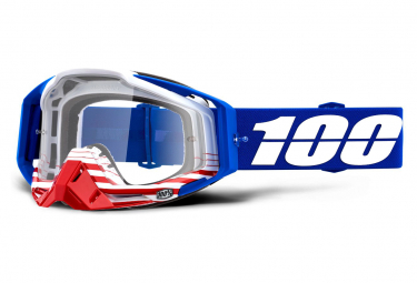 Masque 100% Racecraft Anthem Bleu / Ecran Transparent