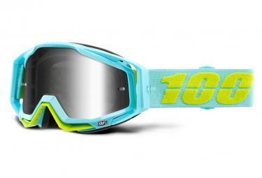 Masque 100% Racecraft Pinacles Bleu / Ecran Miroir Argent