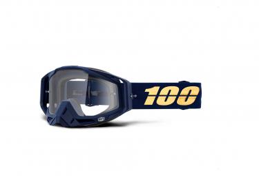 Masque 100% Racecraft Bakken Bleu / Ecran Transparent