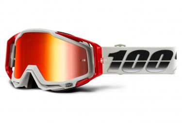 Máscara 100% Racecraft  red Miroir