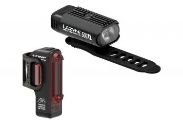 Juego de luces Lezyne Hecto Drive 500XL / Strip Pair negro