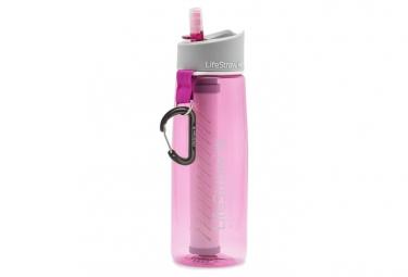 Botella de filtro rosa lifestraw go 2 etapas