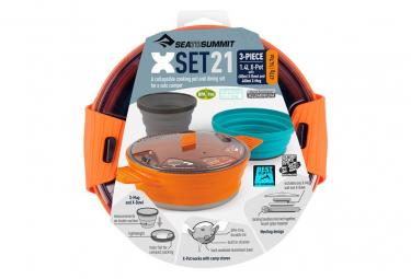 Set Popote Sea To Summit X Pot 1.4L + 1 X-Bowl + 1 X-Mug