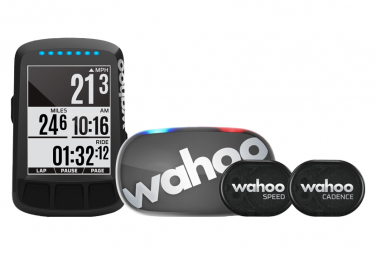 Compteur GPS Wahoo Fitness Elemnt Bolt Edition Noir Stealth - Bundle Cardio / Vitesse / Cadence