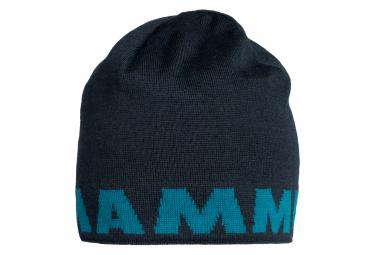 Bonnet Mammut Logo Bleu Noir