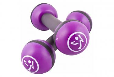 Image of Zumba halteres tonifiantes 2 pieces 1 kg violet zum011