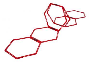 Image of Pure2improve 6 pcs grille hexagonale d agilite rouge