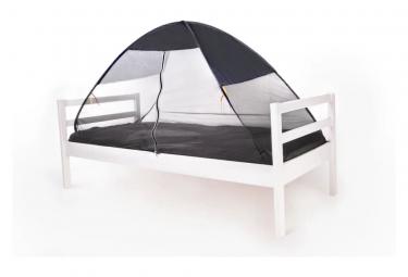 Image of Deryan tente lit avec moustiquaire 200x90x110 cm gris