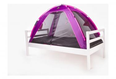 Image of Deryan tente lit avec moustiquaire 150x70x100 cm violet