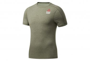 Reebok Crossfit Games Short Sleeve Jersey Khaki