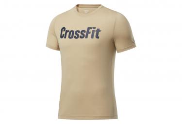 Camiseta Reebok Crossfit Beige Azul Hombres Xl