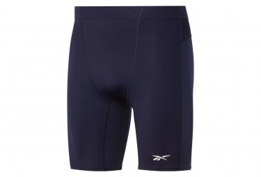 Pantalon Corto Reebok United By Fitness Compression Azul Hombre L