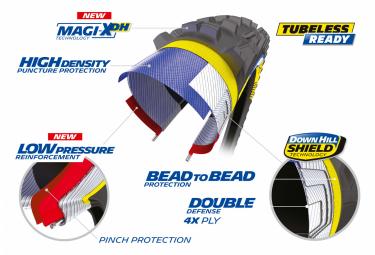 Pneu VTT Michelin DH22 Racing Line 27.5'' Tubeless Ready Rigide DownHill Shield Pinch Protection Magi-X DH