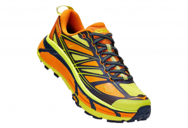 Paar Trail Schuhe Hoka Mafate Speed 2 Yellow Orange Man