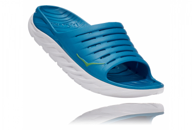 Paire de Chaussures de récupération Hoka Ora Recovery Slide Bleu Blanc