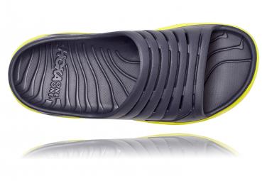 Paire de Chaussures de récupération Hoka Ora Recovery Slide Gris Jaune Homme