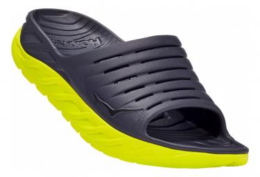 Hoka Ora Recovery Slide Grey Yellow Men