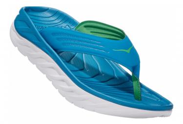 Paire de Chaussures de Récupération Hoka Ora Recovery Flip Bleu Blanc
