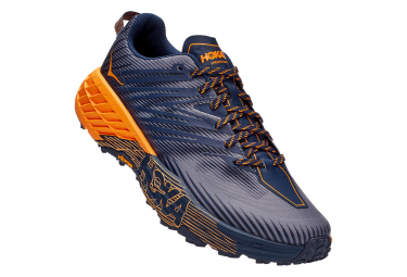 Chaussures de Trail Hoka One One Speedgoat 4 Orange / Bleu / Orange