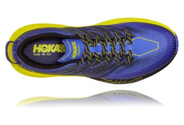 Chaussures de Trail Hoka One One Speedgoat 4 Jaune / Bleu / Jaune