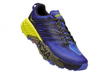 Paar Trail Schuhe Hoka Speedgoat 4 Large 2E Blau / Gelb