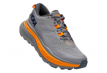 Paar Trail Schuhe Hoka Stinson ATR 6 Grey Orange Man