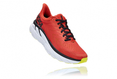 Pair of Shoes Hoka Clifton 7 Red Black Man