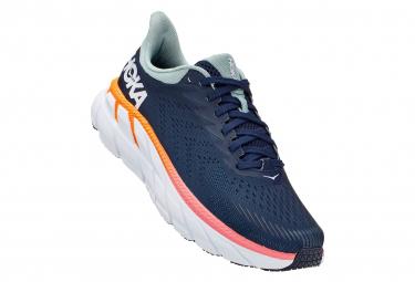 Chaussures de Running Femme Hoka One One Clifton 7 Bleu / Rouge