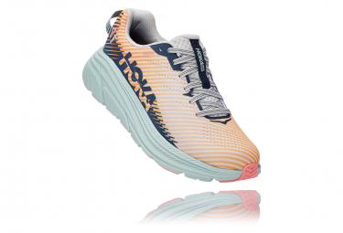 Paar Laufschuhe Frau Hoka Rincon 2 Pink Blue