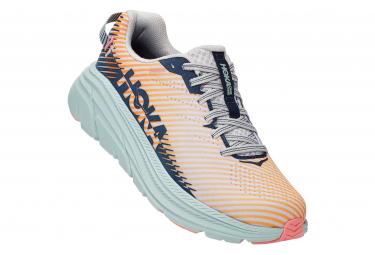 Paire de Chaussures de Running Femme Hoka Rincon 2 Rose Bleu