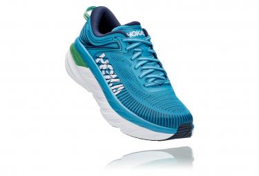 Pair of Shoes Hoka Bondi 7 Blue Green Man