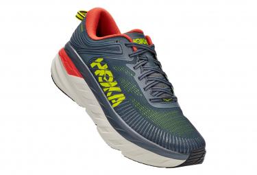 Chaussures de Running Hoka One One Bondi 7 Gris / Jaune