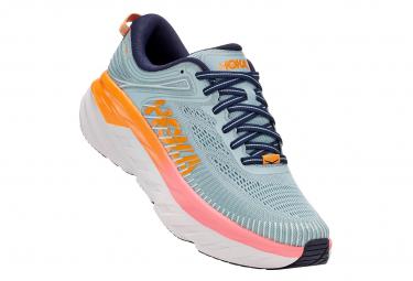 Par De Zapatos Para Correr Mujer Hoka Bondi 7 Azul Naranja Rosa 36