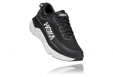 Pair of Running Shoes Woman Hoka Bondi 7 Black White