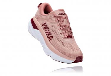 Pair of Running Shoes Woman Hoka Bondi 7 Pink