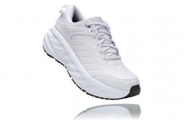 Paar Schuhe Hoka Bondi SR Leder White Man
