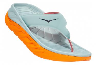 Paire de Chaussures de Récupération Hoka Ora Recovery Flip Bleu Orange