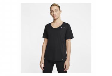 Maillot Manches Courtes Nike City Sleek Noir Femme
