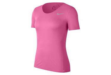 Nike City Sleek Pink Jersey De Manga Corta Mujer Xs