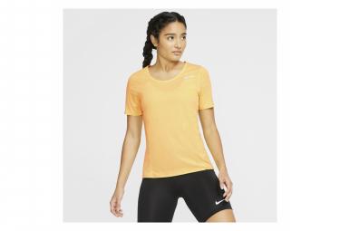Maillot Manches Courtes Nike City Sleek Jaune Femme