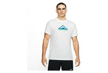 Nike Dri Fit Trail Camiseta De Manga Corta Blanco Azul Hombres S