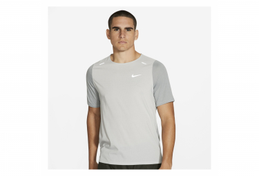 Maillot Manches Courtes Nike Breathe Rise 365 Gris Homme