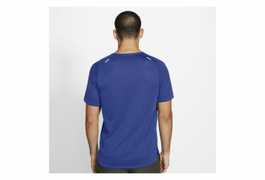 Maillot Manches Courtes Nike Breathe Rise 365 Bleu Homme