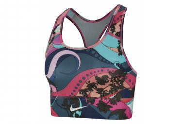 Sujetador deportivo Nike Swoosh Icon Clash Pink Multicolor para mujer