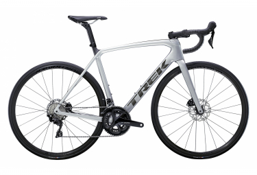 V lo de Route Trek Emonda SL 5 Disc Shimano 105 11V Lithium Quicksilver / Brushed Chrome 2021