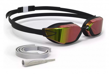 NABAIJI B-FAST Swimming Goggles Mirror Lenses Black Red