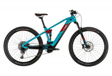 Cube elettrico completo Mountain Bike Cube Stereo Hybrid 120 Pro Sram SX Eagle 12v 500 29 Nero / Rosso 2020