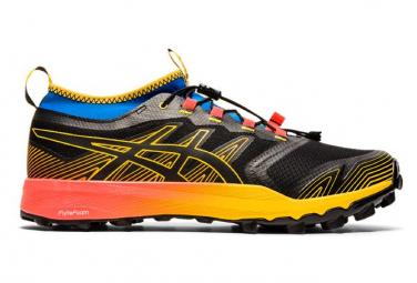 Chaussures de Trail Asics FujiTrabuco Pro Noir / Jaune / Orange