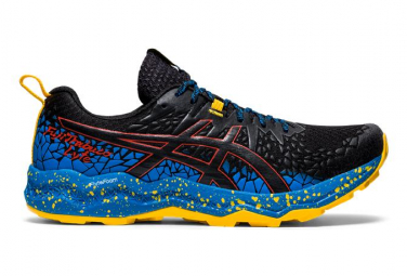 Asics FujiTrabuco Lyte Black Blue Yellow Men