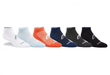Confezione da 6 paia di chaussettes Asics Run Invisible multicolore unisex